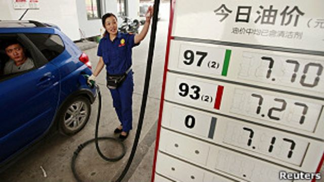 Gasolinera en China