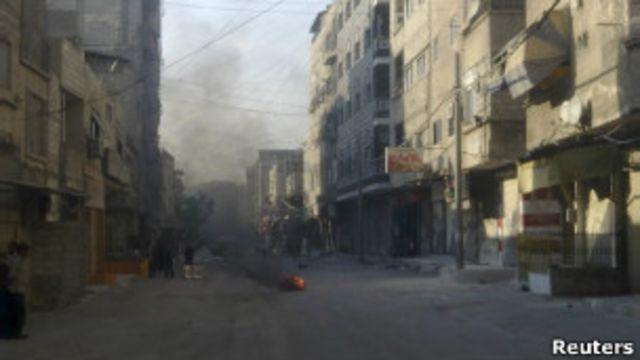 الاشتباكات في دمشق