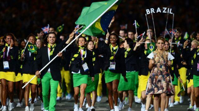 برزیل برگزارکننده بازی های المپیک 2016 با بیشتر از دویست ورزشکار در بازی های لندن شرکت کرده است