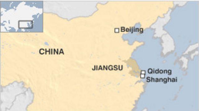 Bản đồ khu vực thành phố Khải Đông, Trung Quốc