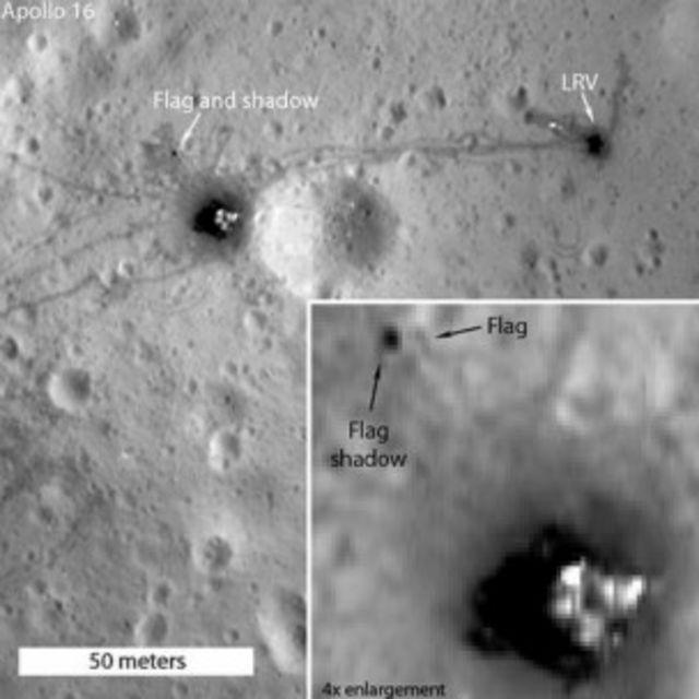 "Фотографии места посадки модуля ""Аполлон-16"""
