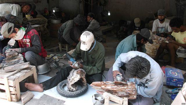 Ingjin Stone, Wood Fossil from Burma to China
