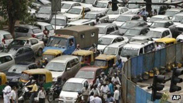 Пробки в Дели