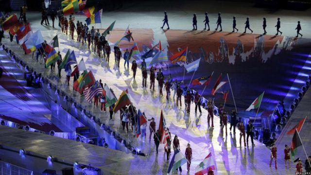 Desfile de banderas