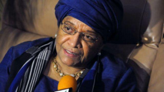 Umukuru wa Liberia Ellen Johnson Sirleaf