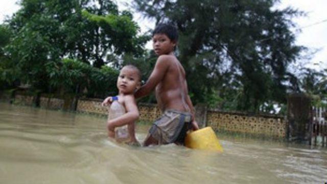 မြန်မာနိုင်ငံ ရေကြီးမှု မြင်ကွင်းကို တွေ့ရပုံ