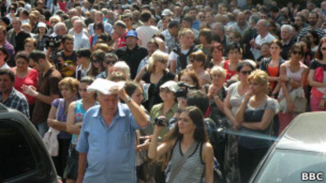 Демонстрация протеста в Тбилиси