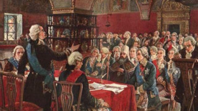 Заседание Комиссии по составлению нового Уложения (Кремль, 1766 г.)