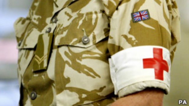 Британский военврач в Афганистане