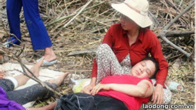 Một vụ công an bắn đạn cao su khiến dân bị thương ở tỉnh Vĩnh Long