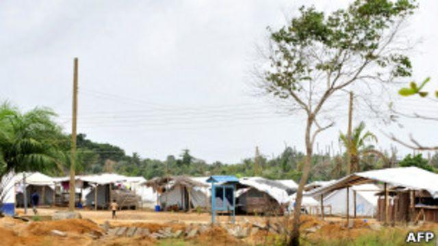 Le camp de réfugiés de Ampan au Ghana, où les autorités ont arrêté des Ivoiriens.