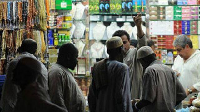 comerciantes en la Meca
