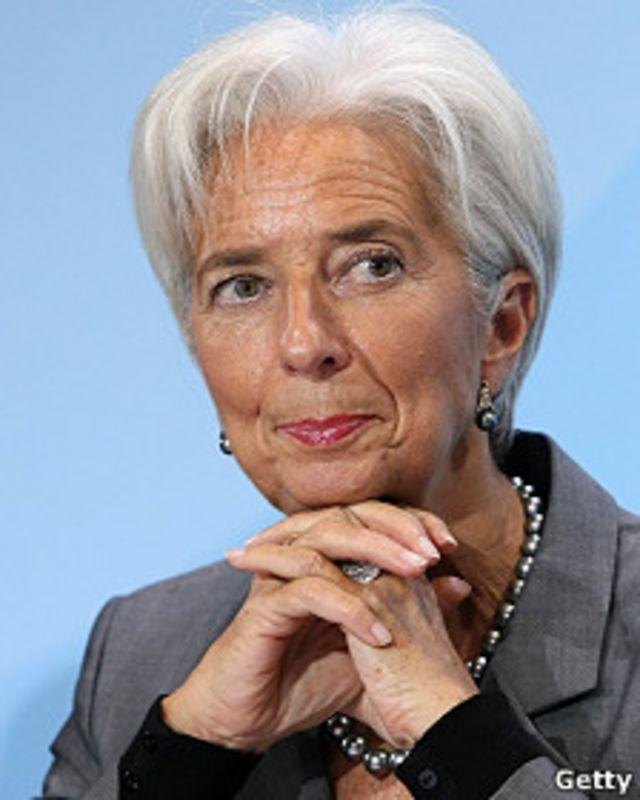 Christine Lagarde, directora del FMI y exministra de Finanzas de Francia