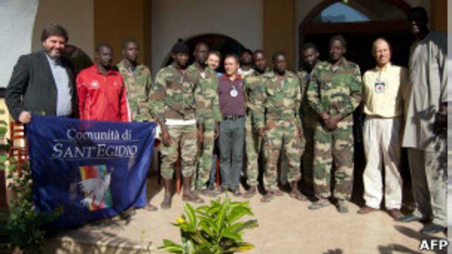 Les huit soldats sénégalais libérés par le MFDC.