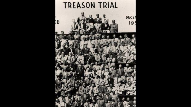 Nelson Mandela dan para tertuduh lain