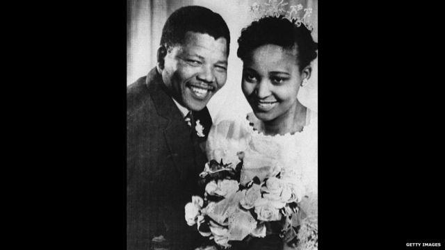 Nelson Mandela di hari pernikahannya