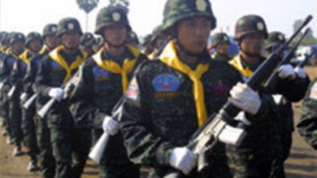 DKBA တပ်ဖွဲ့ဝင်တွေ ဝတ်စုံပြည့် ချီတက်