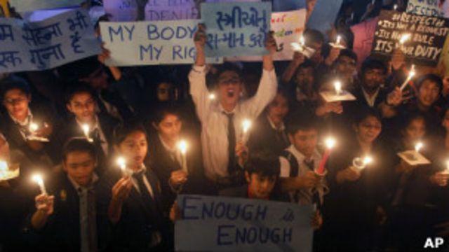 Марш со свечами в Индии