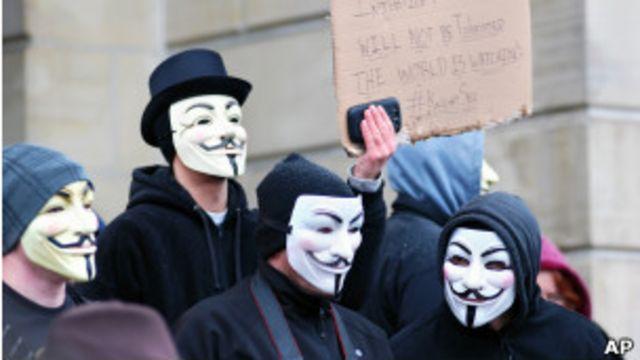 Protesta de Anonymous