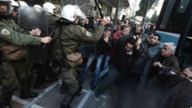 Huelgas en Grecia