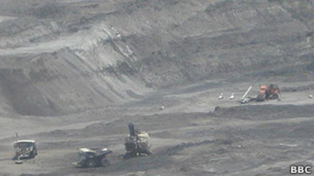 Mina de carbón en Colombia