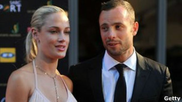 Pistorius con su novia, Reeva Steenkamp