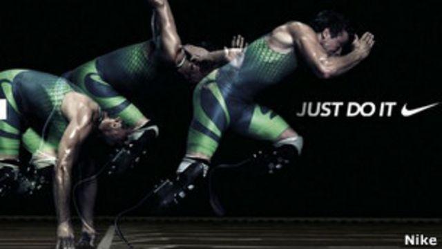 aviso de Nike con Pistorius