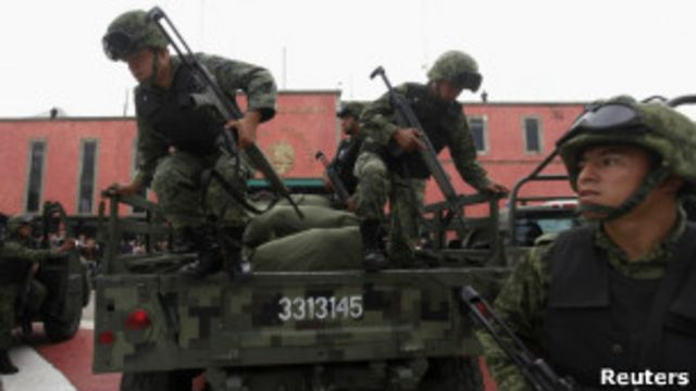 Las autoridades mexicanas adelantan una guerra contra los carteles hace varios años (foto de archivo).