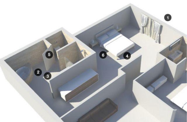Ilustración 3D del lugar del sitio del suceso