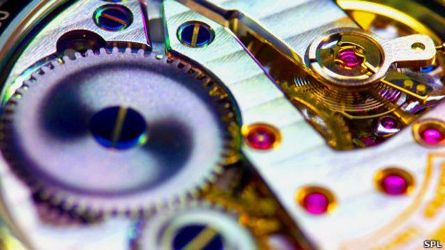 Mecanismo de un reloj de pulsera