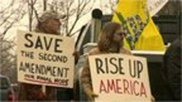 အမေရိကန်က ဆန္ဒပြ စုရုံး ချီတက်မှုတွေ