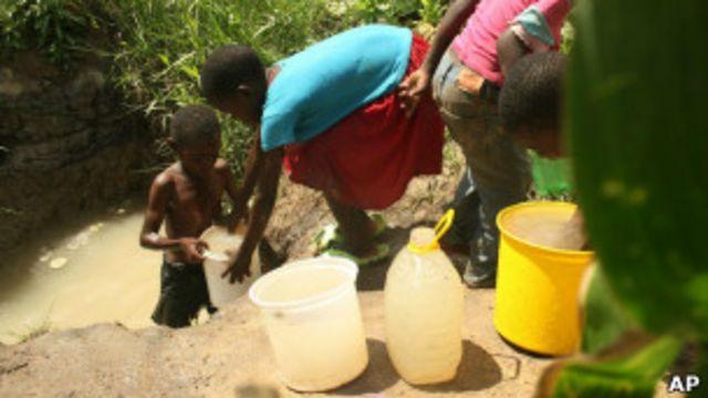 Zona infectada de cólera en África