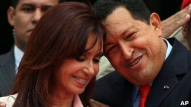 Кристина де Киршер и Уго Чавес