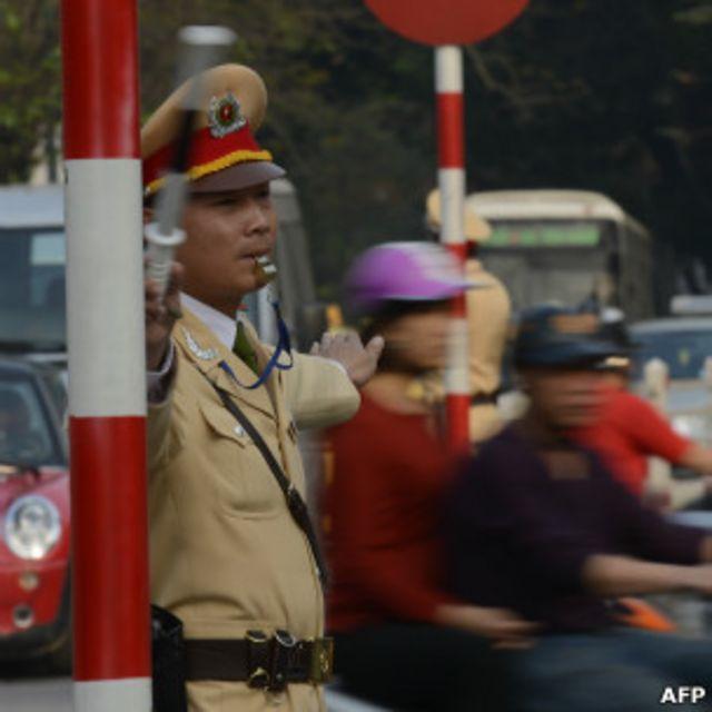 Polisi di Hanoi, Vietnam