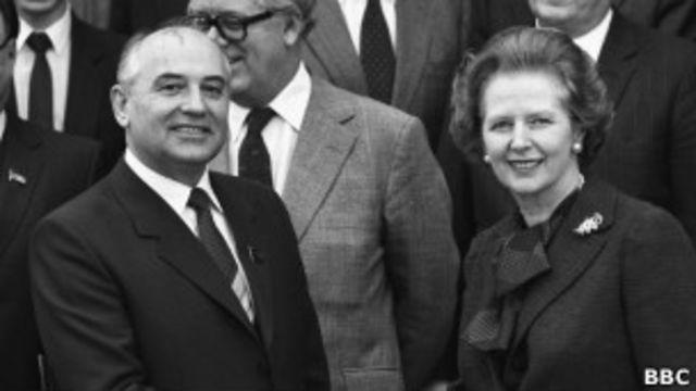 Тэтчер и Горбачев