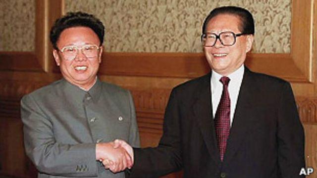Jiang Zemin y Kim Jong-il