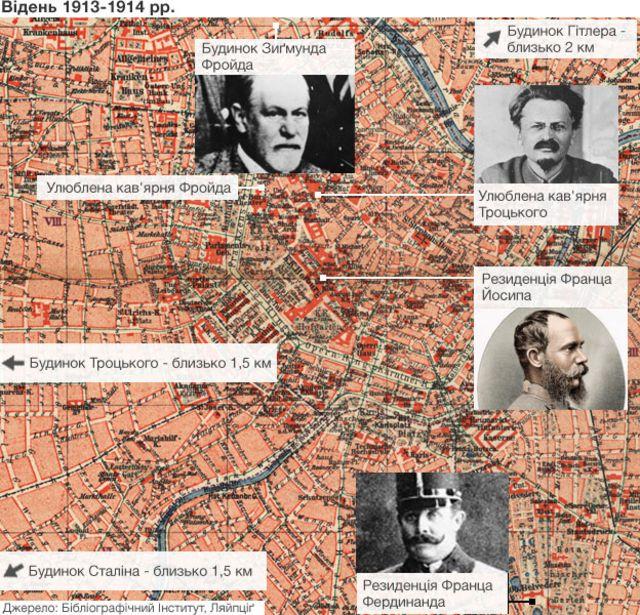 Наші герої проводили багато часу на цих двох квадратних милях у центрі Відня