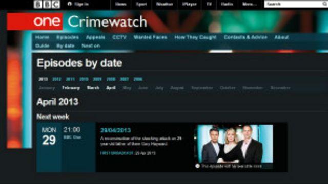 "BBC""犯罪追踪""(Crime Watch)节目"