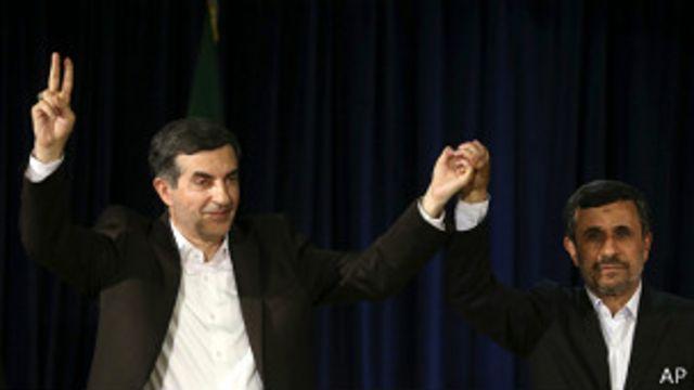 اسفندیار رحیم مشایی با همراهی رئیس جمهور برای شرکت در رقابت های انتخاباتی ثبت نام کرد