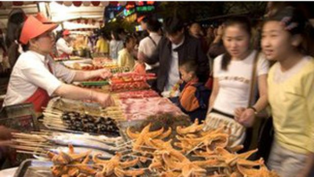 Mercado de comida en China
