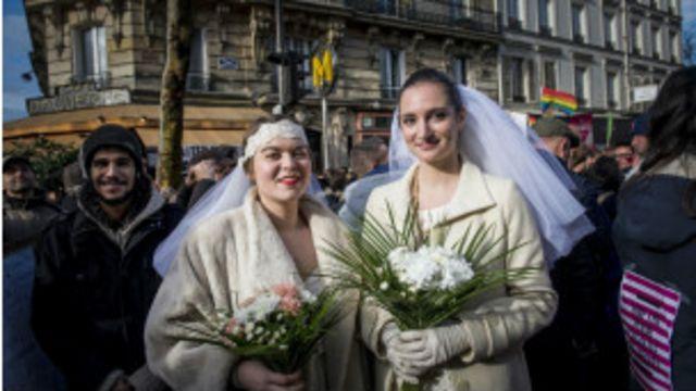 أثار مشروع قانون زواج المثليين انقساما حادا في فرنسا.