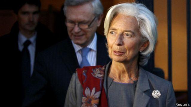 Lagarde beberapa kali menyorot keuangan AS yang dikhawatirkan berimbas global.
