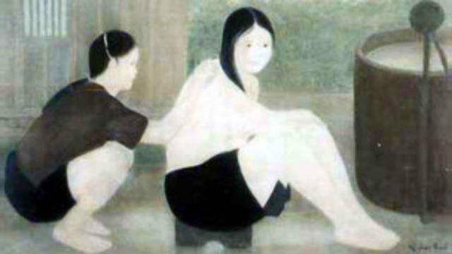 Bức Tắm sớm của họa sỹ Nguyễn Phan Chánh