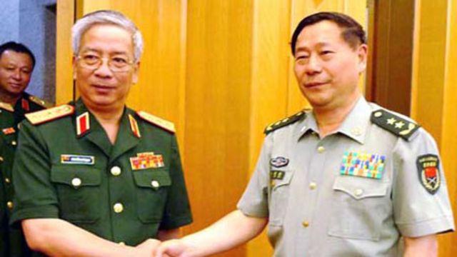 Hai ông Nguyễn Chí Vịnh và Thích Kiến Quốc tại Bắc Kinh