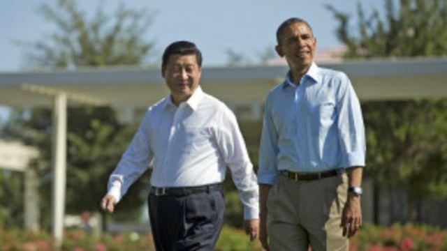 တရုတ် သမ္မတ ရှီကျင်းပင်နဲ့ အမေရိကန် သမ္မတ အိုဘားမား
