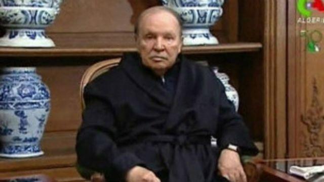 Le président Bouteflika, en convalescence depuis plusieurs mois. Le délit d'offense au président est lourdement sanctionné en Algérie
