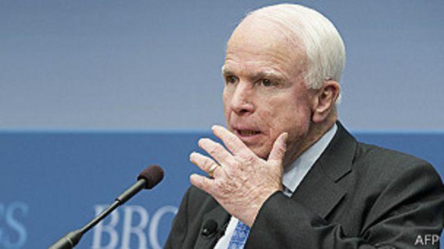 ဆီးရီးယား အတိုက်အခံတွေကို လက်နက် ထောက်ပံ့ဖို့ သမ္မတအိုဘားမားကို ဆီးနိတ် အမတ် McCain တိုက်တွန်း