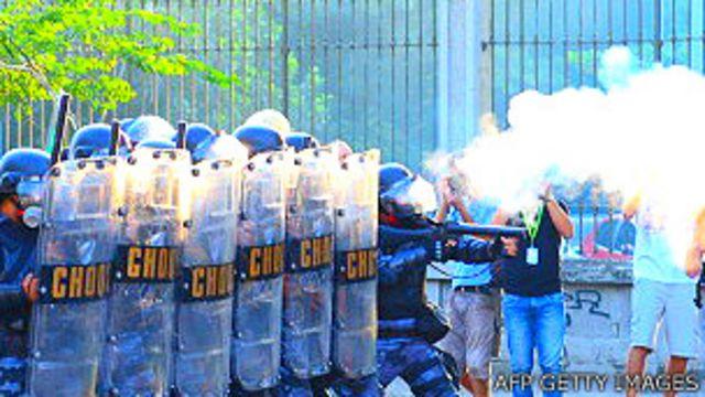 Protestas en Brasil durante la Copa de Confederaciones