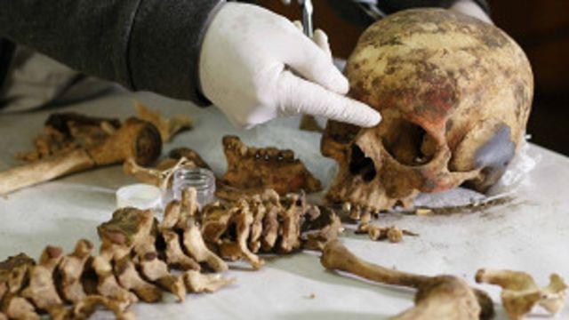 مومياء في المقبرة