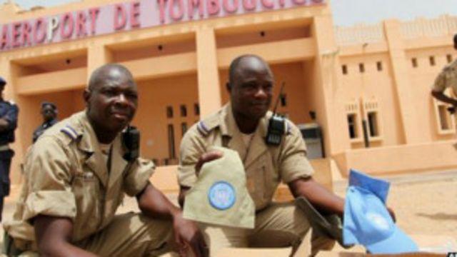 Soldats africains de la Minusma